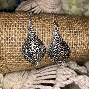 Silver Boho Dangle Earring